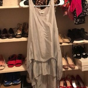 Dresses & Skirts - made in Italy silver silk dress S